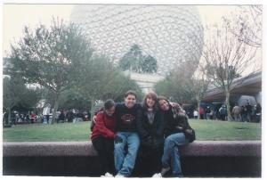 Em 1995, com a Lu