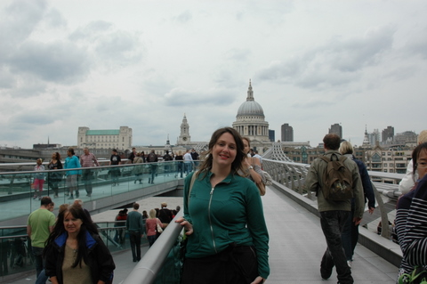 Millenium Bridge + St Paul Cathedral